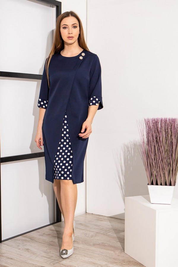 Елегантне плаття YM39501 темно-синього кольору