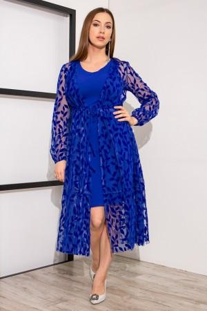 Плаття YM38504 кольору електрик