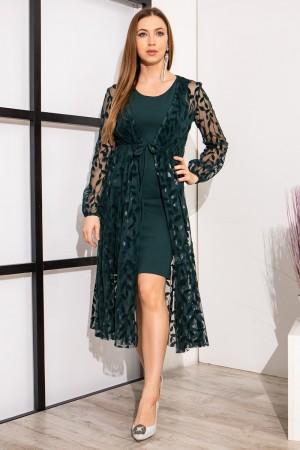 сукня YM38505 темно-зеленого кольору
