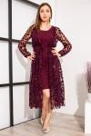 чудова сукня  YM38506 бордо