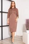 Красиве плаття з візерунками YM39402 світло коричневого кольору