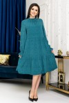 Темно-голубе плаття-трапеція YM42001