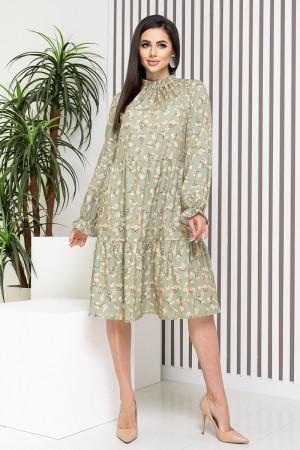Оливкове плаття-трапеція YM42002