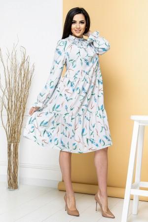 Світло-блакитне плаття-трапеція YM42003