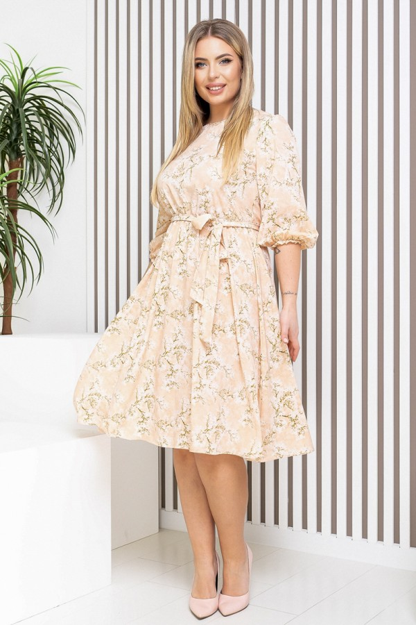 Яскраве бежеве плаття YM40501 2021