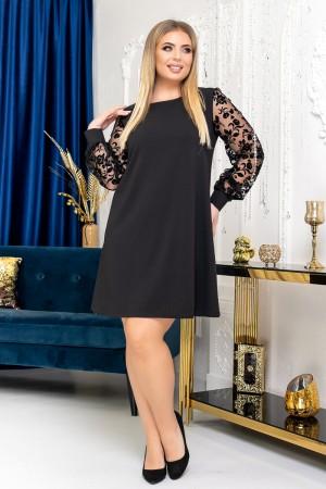 Вишукане чорне  плаття  YM41901 сезону  2021