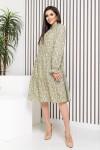 Оливковое платье-трапеция YM42002